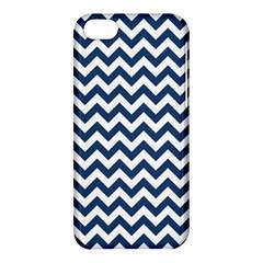 Dark Blue And White Zigzag Apple iPhone 5C Hardshell Case
