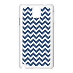 Dark Blue And White Zigzag Samsung Galaxy Note 3 N9005 Case (White)