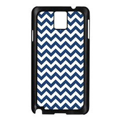 Dark Blue And White Zigzag Samsung Galaxy Note 3 N9005 Case (Black)
