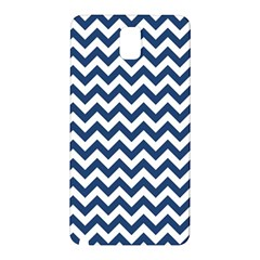 Dark Blue And White Zigzag Samsung Galaxy Note 3 N9005 Hardshell Back Case