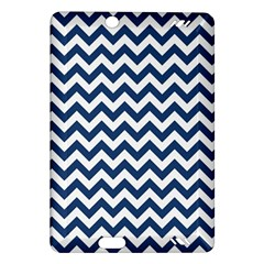 Dark Blue And White Zigzag Kindle Fire HD 7  (2nd Gen) Hardshell Case
