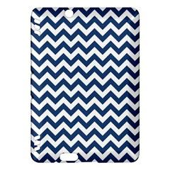 Dark Blue And White Zigzag Kindle Fire HDX 7  Hardshell Case