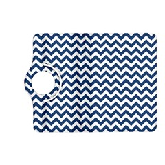 Dark Blue And White Zigzag Kindle Fire HD 7  (2nd Gen) Flip 360 Case