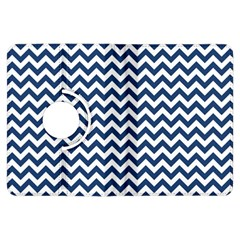 Dark Blue And White Zigzag Kindle Fire Hdx 7  Flip 360 Case