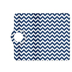 Dark Blue And White Zigzag Kindle Fire Hdx 8 9  Flip 360 Case