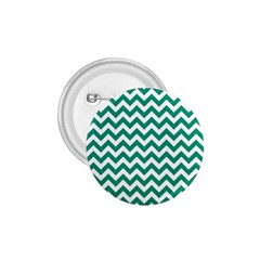 Emerald Green And White Zigzag 1.75  Button