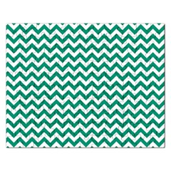 Emerald Green And White Zigzag Jigsaw Puzzle (Rectangle)