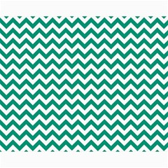 Emerald Green And White Zigzag Canvas 16  x 20  (Unframed)