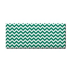 Emerald Green And White Zigzag Hand Towel