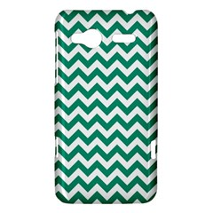 Emerald Green And White Zigzag HTC Radar Hardshell Case