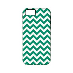 Emerald Green And White Zigzag Apple Iphone 5 Classic Hardshell Case (pc+silicone)