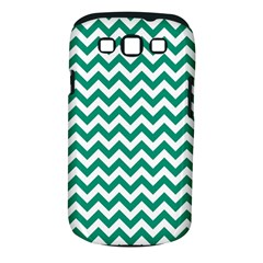 Emerald Green And White Zigzag Samsung Galaxy S III Classic Hardshell Case (PC+Silicone)