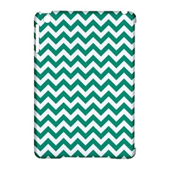 Emerald Green And White Zigzag Apple iPad Mini Hardshell Case (Compatible with Smart Cover)