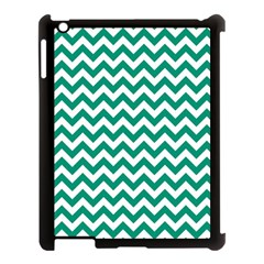 Emerald Green And White Zigzag Apple Ipad 3/4 Case (black)