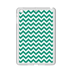 Emerald Green And White Zigzag Apple iPad Mini 2 Case (White)