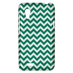Emerald Green And White Zigzag HTC Desire VT (T328T) Hardshell Case