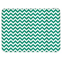 Emerald Green And White Zigzag Samsung Galaxy Tab 7  P1000 Flip Case
