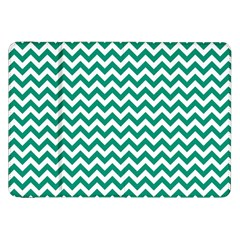 Emerald Green And White Zigzag Samsung Galaxy Tab 8 9  P7300 Flip Case