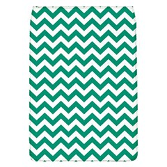 Emerald Green And White Zigzag Removable Flap Cover (Large)