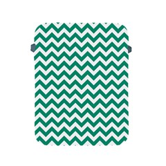 Emerald Green And White Zigzag Apple iPad Protective Sleeve