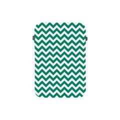 Emerald Green And White Zigzag Apple Ipad Mini Protective Sleeve