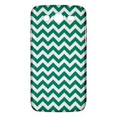 Emerald Green And White Zigzag Samsung Galaxy Mega 5.8 I9152 Hardshell Case