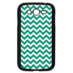 Emerald Green And White Zigzag Samsung Galaxy Grand Duos I9082 Case (black)