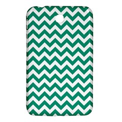 Emerald Green And White Zigzag Samsung Galaxy Tab 3 (7 ) P3200 Hardshell Case