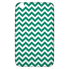 Emerald Green And White Zigzag Samsung Galaxy Tab 3 (8 ) T3100 Hardshell Case