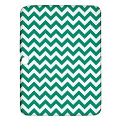 Emerald Green And White Zigzag Samsung Galaxy Tab 3 (10.1 ) P5200 Hardshell Case