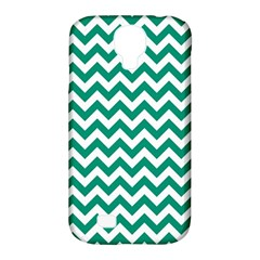 Emerald Green And White Zigzag Samsung Galaxy S4 Classic Hardshell Case (PC+Silicone)