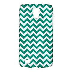 Emerald Green And White Zigzag Samsung Galaxy S4 Active (i9295) Hardshell Case