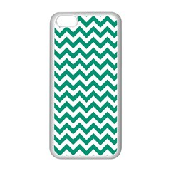 Emerald Green And White Zigzag Apple Iphone 5c Seamless Case (white)