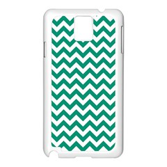 Emerald Green And White Zigzag Samsung Galaxy Note 3 N9005 Case (White)