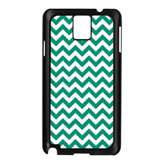 Emerald Green And White Zigzag Samsung Galaxy Note 3 N9005 Case (Black)