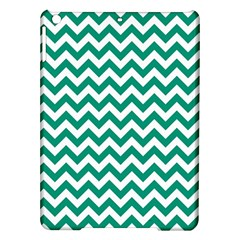 Emerald Green And White Zigzag Apple iPad Air Hardshell Case