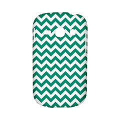 Emerald Green And White Zigzag Samsung Galaxy S6810 Hardshell Case