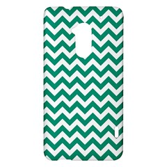 Emerald Green And White Zigzag HTC One Max (T6) Hardshell Case