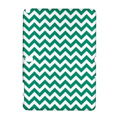 Emerald Green And White Zigzag Samsung Galaxy Note 10.1 (P600) Hardshell Case