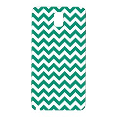 Emerald Green And White Zigzag Samsung Galaxy Note 3 N9005 Hardshell Back Case