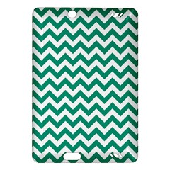 Emerald Green And White Zigzag Kindle Fire Hd 7  (2nd Gen) Hardshell Case