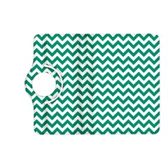 Emerald Green And White Zigzag Kindle Fire Hd 7  (2nd Gen) Flip 360 Case