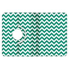 Emerald Green And White Zigzag Kindle Fire HDX 7  Flip 360 Case