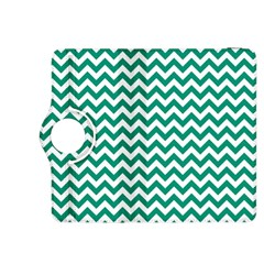 Emerald Green And White Zigzag Kindle Fire HDX 8.9  Flip 360 Case