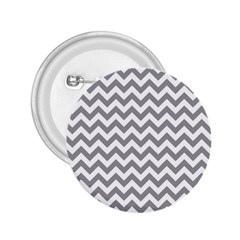 Grey And White Zigzag 2 25  Button