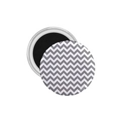 Grey And White Zigzag 1.75  Button Magnet