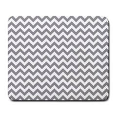 Grey And White Zigzag Large Mouse Pad (rectangle)