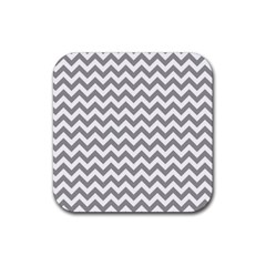 Grey And White Zigzag Drink Coasters 4 Pack (square)