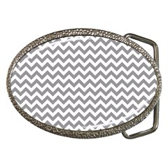 Grey And White Zigzag Belt Buckle (Oval)