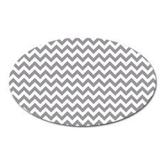 Grey And White Zigzag Magnet (oval)